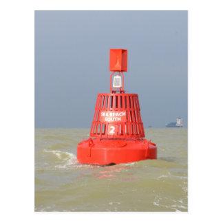Rote Bojen-Seereichweite Süd Postkarte