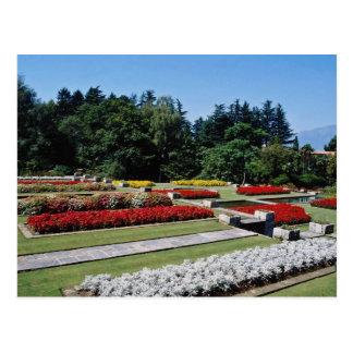 Rote botanische Gärten des Landhauses Tranto auf Postkarte