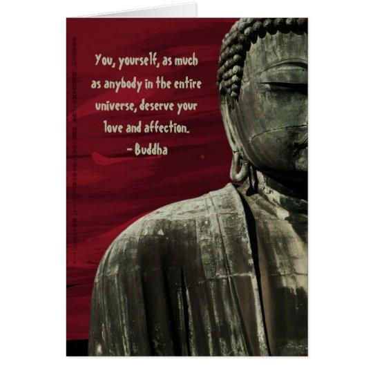 Rote Buddha-Statue-Karte kundengerecht Karte