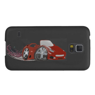 Rote Cartoon-Sport-Auto-Kunst Samsung S5 Hüllen