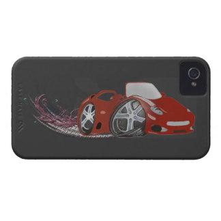 Rote Cartoon-Sport-Auto-Kunst iPhone 4 Case-Mate Hülle