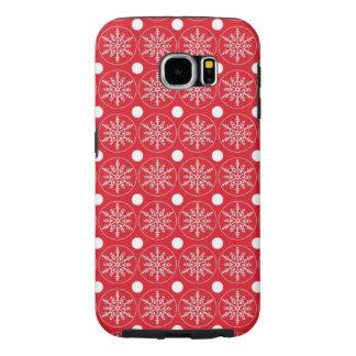 Rote Case-Mate-Abdeckung Schneeflocke-Samsungs-Gal