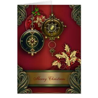 Rote christliche Weihnachtskarten Karte