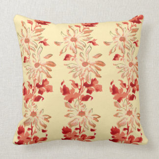 Rote Chrysantheme-Japaner-Blumen Kissen