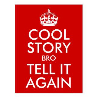 Rote coole Geschichte Bro sagen es wieder Postkarte