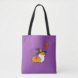 Rote Corgi-Halloween-Tasche Tasche