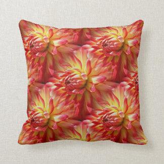 Rote Dahlie-Blumen-Muster-Natur Kissen