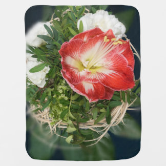 rote Decke der Blume 3D Babydecken