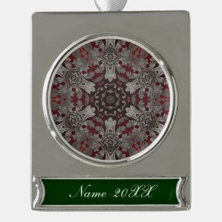 rote der Renaissance gotische metallische und Banner-Ornament Silber