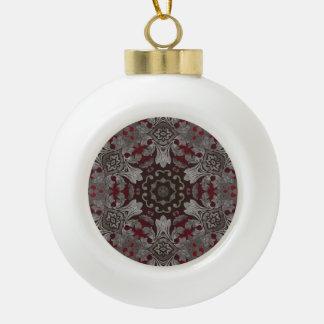 rote der Renaissance gotische metallische und Keramik Kugel-Ornament