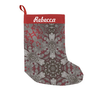 rote der Renaissance gotische metallische und Kleiner Weihnachtsstrumpf