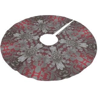 rote der Renaissance gotische metallische und Polyester Weihnachtsbaumdecke