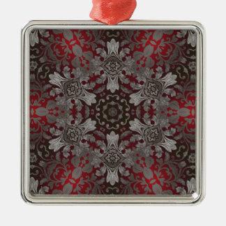 rote der Renaissance gotische metallische und Quadratisches Silberfarbenes Ornament