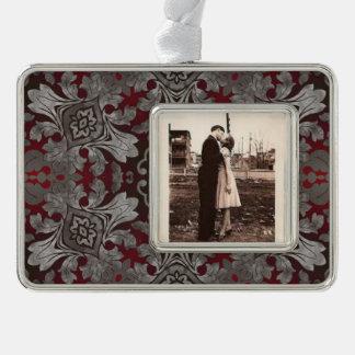 rote der Renaissance gotische metallische und Rahmen-Ornament Silber