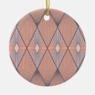 Rote Diamanten Keramik Ornament
