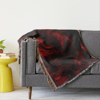 Rote Drache-Haut Decke