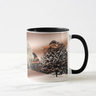 Rote Drachen-Landschaftsszenen-Tasse Tasse