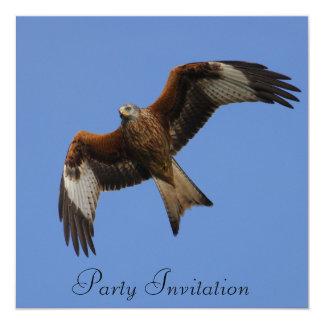 Rote Drachen-Party Einladung