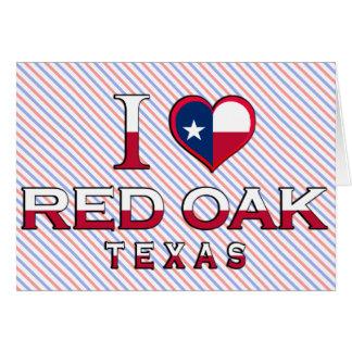 Rote Eiche, Texas Karte