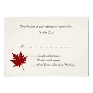 Rote Fall-Blatt-Hochzeits-Wartekarten 8,9 X 12,7 Cm Einladungskarte