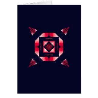 Rote Farbe gemustert Grußkarte