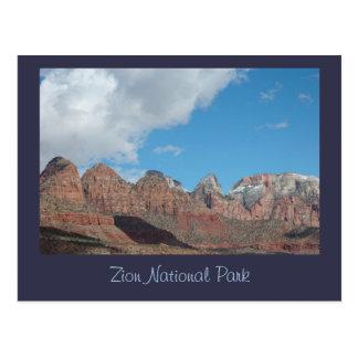 Rote Felsen-Klippen in Zion Nationalpark Postkarte