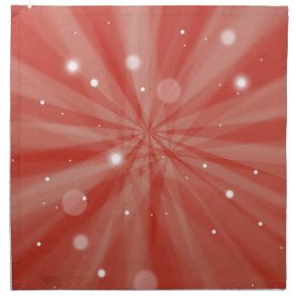 Rote festliche Sternexplosion und Schnee Stoffserviette