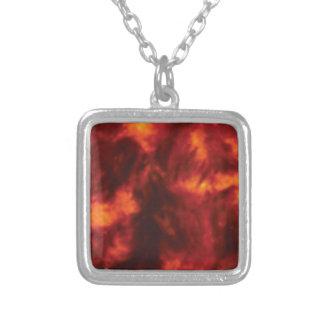 rote Flamme der Hitze Versilberte Kette