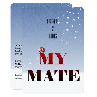 Rote Fußball-Einladungen für Männer Karte