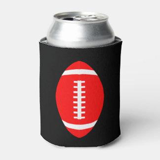 Rote Fußballfan-Spiel-Tagesbier-Dose Koozie Dosenkühler