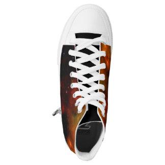 Rote Galaxieschuhe Hoch-geschnittene Sneaker