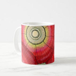 Rote Gänseblümchen-Tasse Kaffeetasse