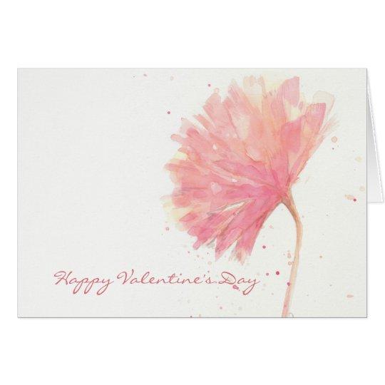 Rote Gartennelken-Valentinsgruß-Karte Grußkarte