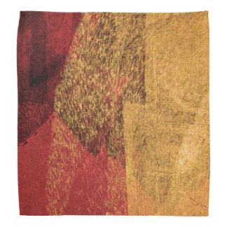 Rote gelbe schwarze abstrakte Farbenbürstenkunst Kopftuch