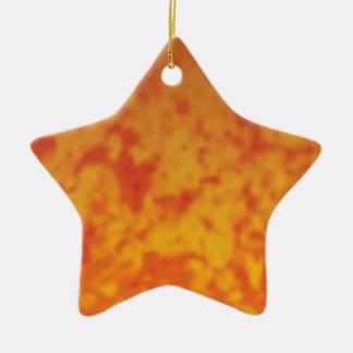 rote gelbe Stellen Keramik Stern-Ornament