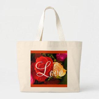 Rote gelbe Tasche der Rosen-Liebe-II - kundengerec