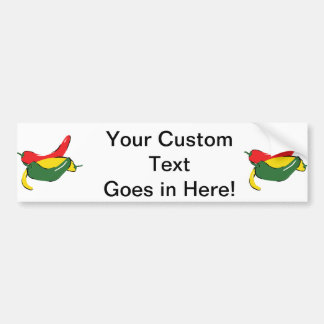 Rote gelbes Grün-Chili-Pfeffer-Grafik Autoaufkleber