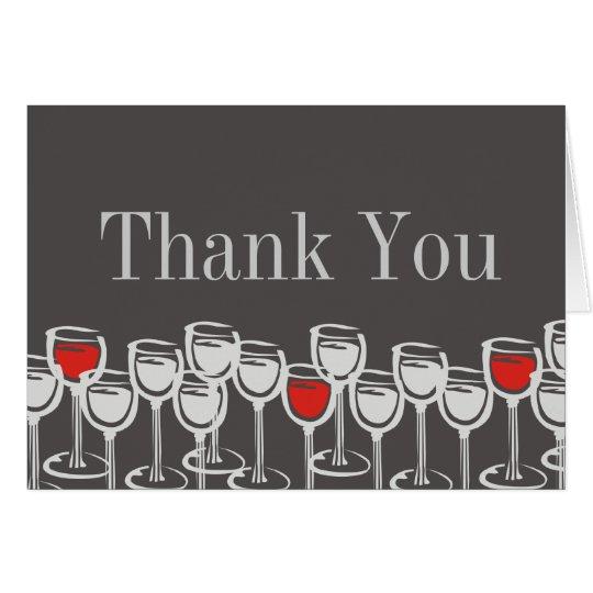 rote Gläser des weißen Weins danken Ihnen Karte