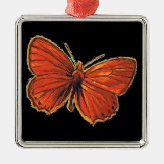 Rote gotische silbernes ornament