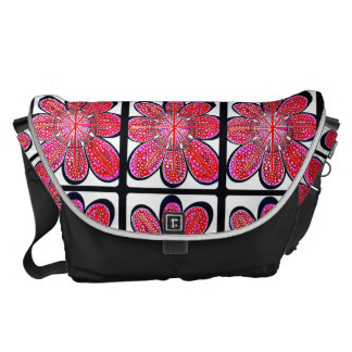 (Rote) große Bote-Tasche Emilys Kurier Tasche