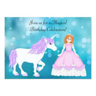 Rote Haar-Prinzessin-und 12,7 X 17,8 Cm Einladungskarte