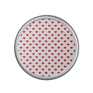 Rote Herz-Muster-Liebe Bluetooth Lautsprecher