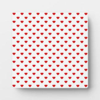 Rote Herz-Muster-Liebe Fotoplatte