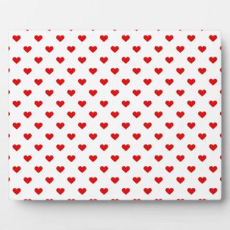 Rote Herz-Muster-Liebe Platte