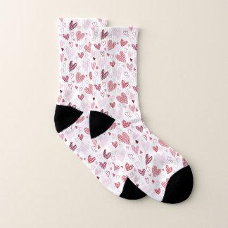 Rote Herz-Muster-Valentinsgruß-Socken Socken