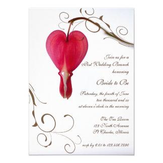 Rote Herz-Posten-Hochzeits-Brunch-Einladung Karte