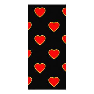 Rote Herzen auf einem schwarzen Hintergrund Werbekarte