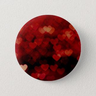 rote Herzen Runder Button 5,7 Cm