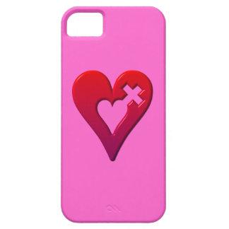 Rote Herzen und Kreuz Barely There iPhone 5 Hülle