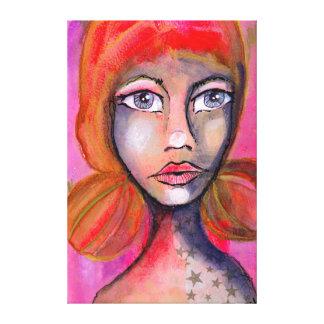 Rote Jane Leinwanddruck
